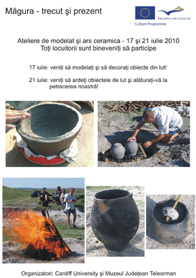 Pottery making workshop leaflet