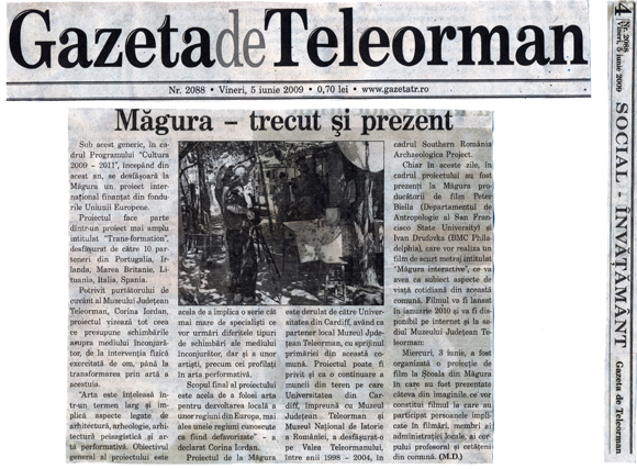 Gazeta de Teleorman press release