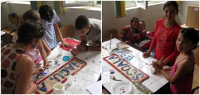 Making the Mãgura School mosaic